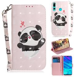 Heart Cat 3D Painted Leather Wallet Phone Case for Huawei P Smart+ (2019)