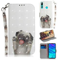 Pug Dog 3D Painted Leather Wallet Phone Case for Huawei P Smart+ (2019)
