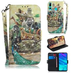 Beast Zoo 3D Painted Leather Wallet Phone Case for Huawei P Smart+ (2019)