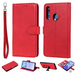 Retro Greek Detachable Magnetic PU Leather Wallet Phone Case for Huawei P Smart+ (2019) - Red