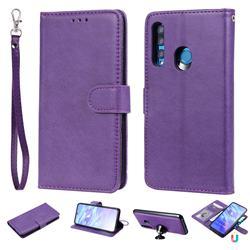 Retro Greek Detachable Magnetic PU Leather Wallet Phone Case for Huawei P Smart+ (2019) - Purple