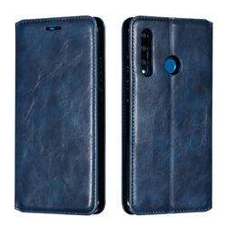 Retro Slim Magnetic Crazy Horse PU Leather Wallet Case for Huawei P Smart+ (2019) - Blue