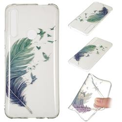 Bird Feathers Super Clear Soft TPU Back Cover for Huawei P Smart Z (2019)