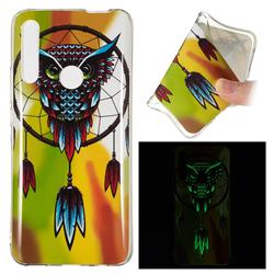 Owl Wind Chimes Noctilucent Soft TPU Back Cover for Huawei P Smart Z (2019)