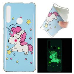 Stars Unicorn Noctilucent Soft TPU Back Cover for Huawei P Smart Z (2019)