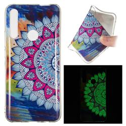 Colorful Sun Flower Noctilucent Soft TPU Back Cover for Huawei P Smart Z (2019)