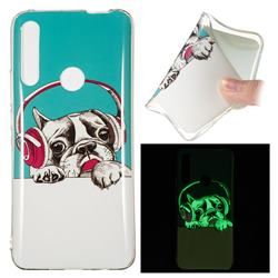 Headphone Puppy Noctilucent Soft TPU Back Cover for Huawei P Smart Z (2019)