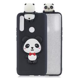 Red Bow Panda Soft 3D Climbing Doll Soft Case for Huawei P Smart Z (2019)