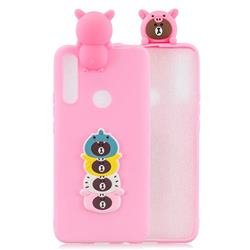 Expression Bear Soft 3D Climbing Doll Soft Case for Huawei P Smart Z (2019)