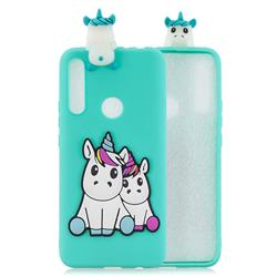 Couple Unicorn Soft 3D Climbing Doll Soft Case for Huawei P Smart Z (2019)
