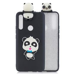 Blue Bow Panda Soft 3D Climbing Doll Soft Case for Huawei P Smart Z (2019)
