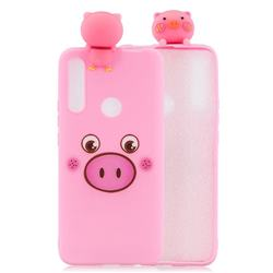 Small Pink Pig Soft 3D Climbing Doll Soft Case for Huawei P Smart Z (2019)