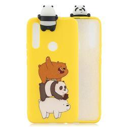 Striped Bear Soft 3D Climbing Doll Soft Case for Huawei P Smart Z (2019)