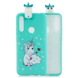 Heart Unicorn Soft 3D Climbing Doll Soft Case for Huawei P Smart Z (2019)
