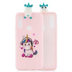 Music Unicorn Soft 3D Climbing Doll Soft Case for Huawei P Smart Z (2019)