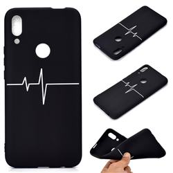 Electrocardiogram Chalk Drawing Matte Black TPU Phone Cover for Huawei P Smart Z (2019)