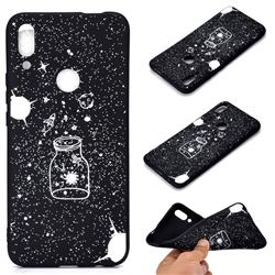 Travel The Universe Chalk Drawing Matte Black TPU Phone Cover for Huawei P Smart Z (2019)