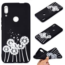 Dandelion Chalk Drawing Matte Black TPU Phone Cover for Huawei P Smart Z (2019)