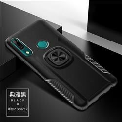 Knight Armor Anti Drop PC + Silicone Invisible Ring Holder Phone Cover for Huawei P Smart Z (2019) - Black