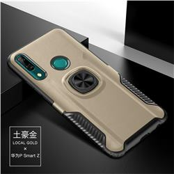 Knight Armor Anti Drop PC + Silicone Invisible Ring Holder Phone Cover for Huawei P Smart Z (2019) - Champagne