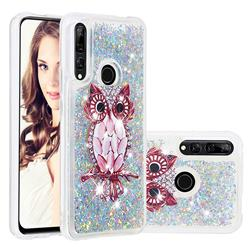 Seashell Owl Dynamic Liquid Glitter Quicksand Soft TPU Case for Huawei P Smart Z (2019)