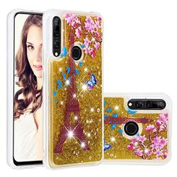 Golden Tower Dynamic Liquid Glitter Quicksand Soft TPU Case for Huawei P Smart Z (2019)