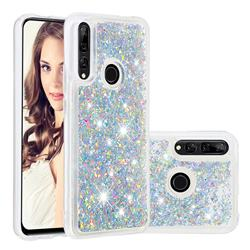 Dynamic Liquid Glitter Quicksand Sequins TPU Phone Case for Huawei P Smart Z (2019) - Silver
