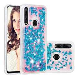 Dynamic Liquid Glitter Quicksand Sequins TPU Phone Case for Huawei P Smart Z (2019) - Blue