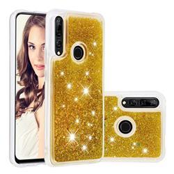 Dynamic Liquid Glitter Quicksand Sequins TPU Phone Case for Huawei P Smart Z (2019) - Golden