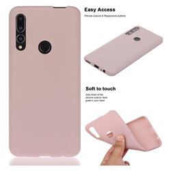 Soft Matte Silicone Phone Cover for Huawei P Smart Z (2019) - Lotus Color