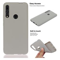 Soft Matte Silicone Phone Cover for Huawei P Smart Z (2019) - Gray