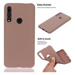 Soft Matte Silicone Phone Cover for Huawei P Smart Z (2019) - Khaki