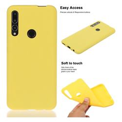 Soft Matte Silicone Phone Cover for Huawei P Smart Z (2019) - Yellow