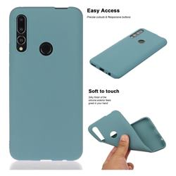 Soft Matte Silicone Phone Cover for Huawei P Smart Z (2019) - Lake Blue