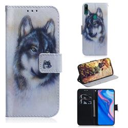 Snow Wolf PU Leather Wallet Case for Huawei P Smart Z (2019)