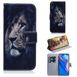 Lion Face PU Leather Wallet Case for Huawei P Smart Z (2019)