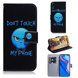 Not Touch My Phone PU Leather Wallet Case for Huawei P Smart Z (2019)