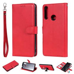 Retro Greek Detachable Magnetic PU Leather Wallet Phone Case for Huawei P Smart Z (2019) - Red