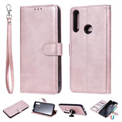 Retro Greek Detachable Magnetic PU Leather Wallet Phone Case for Huawei P Smart Z (2019) - Rose Gold