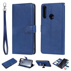 Retro Greek Detachable Magnetic PU Leather Wallet Phone Case for Huawei P Smart Z (2019) - Blue