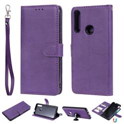 Retro Greek Detachable Magnetic PU Leather Wallet Phone Case for Huawei P Smart Z (2019) - Purple