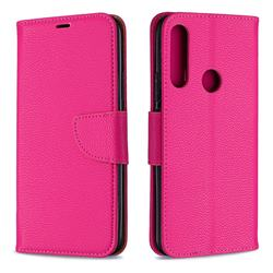 Classic Luxury Litchi Leather Phone Wallet Case for Huawei P Smart Z (2019) - Rose