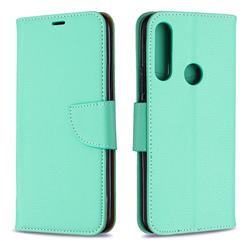 Classic Luxury Litchi Leather Phone Wallet Case for Huawei P Smart Z (2019) - Green