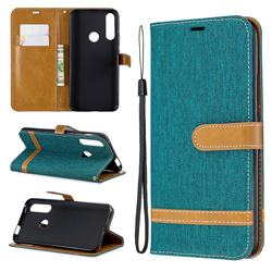 Jeans Cowboy Denim Leather Wallet Case for Huawei P Smart Z (2019) - Green