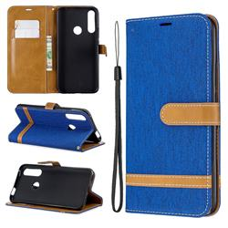 Jeans Cowboy Denim Leather Wallet Case for Huawei P Smart Z (2019) - Sapphire