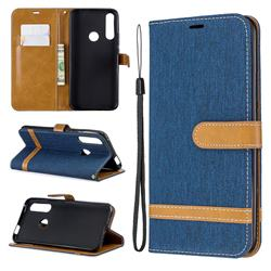 Jeans Cowboy Denim Leather Wallet Case for Huawei P Smart Z (2019) - Dark Blue