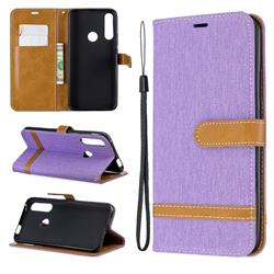 Jeans Cowboy Denim Leather Wallet Case for Huawei P Smart Z (2019) - Purple