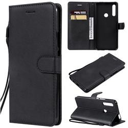 Retro Greek Classic Smooth PU Leather Wallet Phone Case for Huawei P Smart Z (2019) - Black