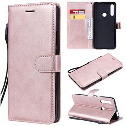 Retro Greek Classic Smooth PU Leather Wallet Phone Case for Huawei P Smart Z (2019) - Rose Gold