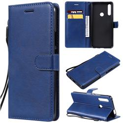 Retro Greek Classic Smooth PU Leather Wallet Phone Case for Huawei P Smart Z (2019) - Blue